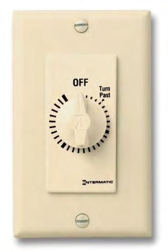 A traditional wall switch can be replaced with a timer (left) or