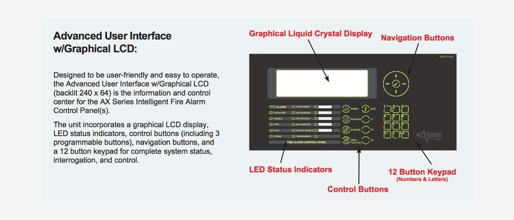 Simplifying and reducing initial system set-up, each Axis AX Series Intelligent Fire Alarm Control Panel is equipped with an installer-friendly Auto-Learn/Loop Detection feature that permits the