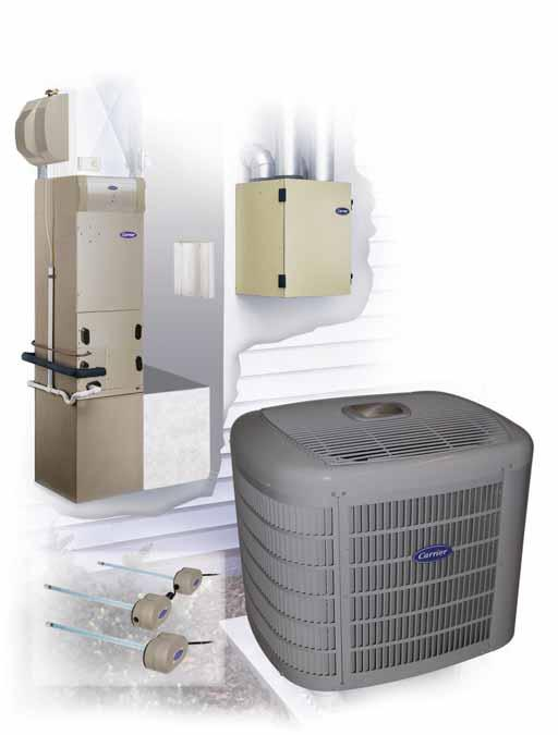 Carrier Systems for Unmatched Performance Humidifier replenishes moisture to dry air.