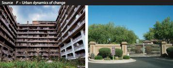 Examples of Urban Places HSC questions 2014 HSC Contrast the TWO examples of urban dynamics of change in Source F on page