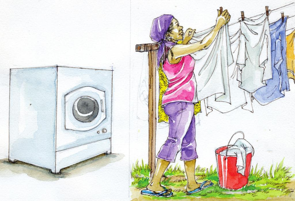 Sort out laundry and schedule washing so that a complete job can be