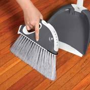 30 Degree angle allows sweeping right up to and against skirting boards Scrubbing