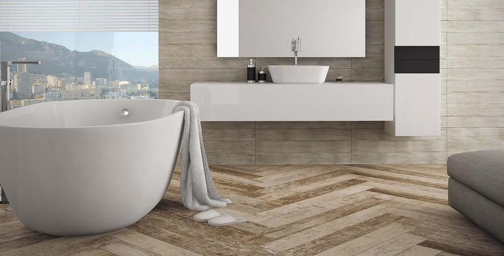 ECO HOME HD Glazed porcelain tile Porcelanato esmaltado Inspired by demolition wood which suffered with the action