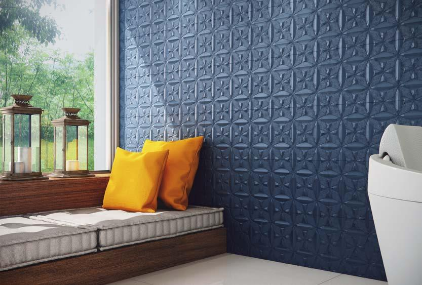 WALL COLOR Wall tile Pared Reliefs in modern shades, full of personality that provide visual unit to highlighted walls.