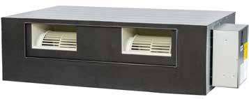 Ducted inverter reverse cycle air conditioning Indoor unit features and benefits Ducted inverter single phase Built in drain pump and low profile design Allows more flexibility in placing an indoor