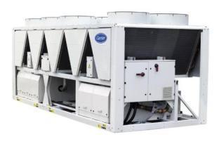 30XA Series Air Cooled Chillers with Screw Compressor(s) R134a Refrigerant Alu/Alu coils Economizer with EXV on all the range Flooded evaporator Axial Flying Bird fans Touch Pilot Control 5