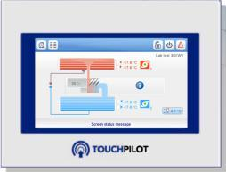 TOUCH PILOT Chilled-Water Plan Control System TOUCH PILOT operator interface MAIN FUNCTIONS (*