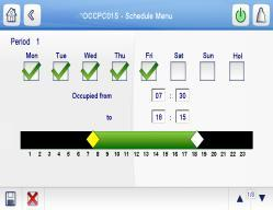 CSM control Aquasmart System Manager compatibility Dual cooling/heating setpoint time schedule