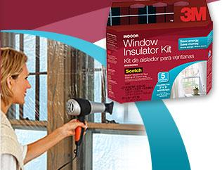 Install Window Kits in Winter Use when there are single pane or lose fit