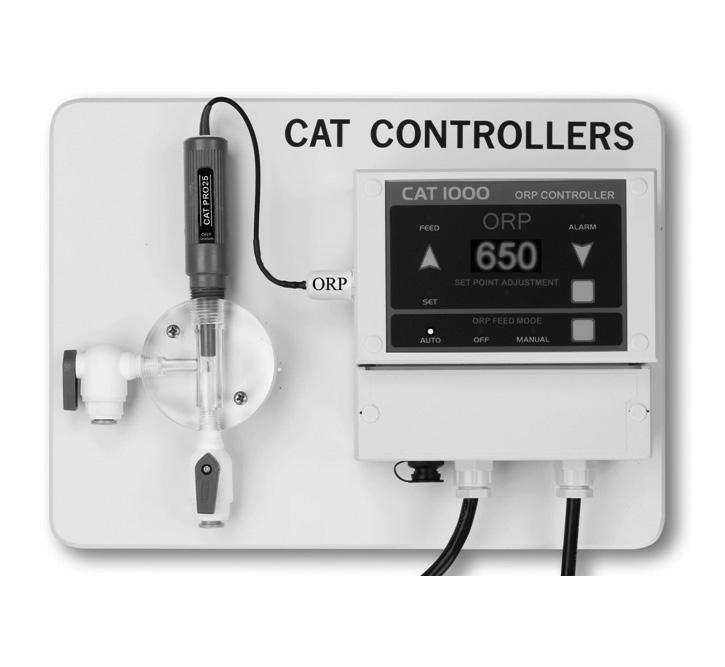 092429A RevA CAT-1000-ORP Automated ORP Controller Owner s Manual Contents Warnings...2 Introduction...4 Important Information...4 Installation...6 Operation...8 Maintenance...12 Troubleshooting.