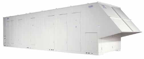 insulated cabinet construction Walk-in compressor/controls service vestibule Unit access doors with full length hinges and lockable handles Spring isolated, direct drive, backward curved