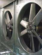 Power Return Blower Power Exhaust Fan Outside Air Intake Hinged Access Doors Full length stainless steel