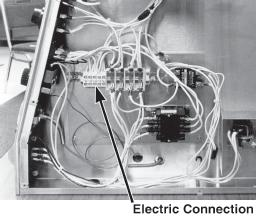 2-6. ELECTRIC CONNECTION The electrical power can be connected from the bottom or from (Continued) the operator s side. There is a 1-3/32 inch diameter hole from either connection.