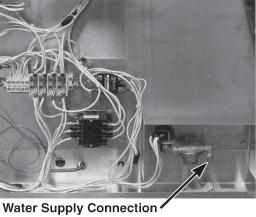 Please observe the electrical connection information on the data plate located on the side panel of the control end.