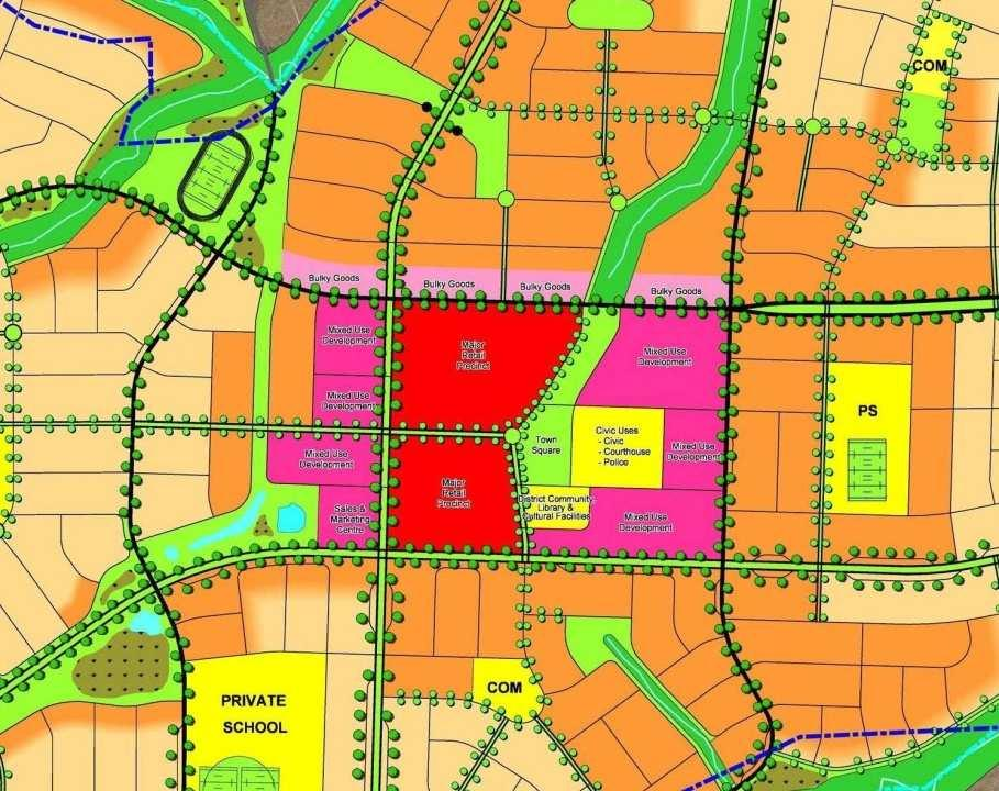 Oran Park Town Centre proposes: street edge and sub street car parking Active edges to all street frontages Adjoining mix use Links to