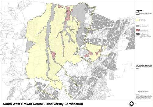 Regional Conservation Developable Areas balanced with conservation inside Growth Centre Combined major flooding,