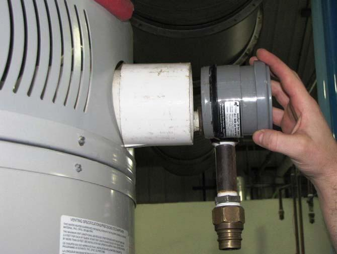Air Intake Pipe. Use appropriate solvent and cement to cement coupling to pipe.