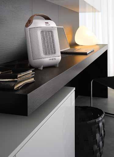 8kW 2 power levels Stylish Italian design Light and transportable personal heater Ceramic heating