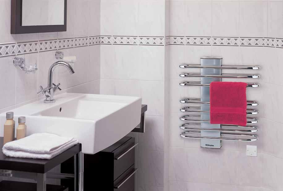 ladder towel rails the DLR ranges The Dimplex DLR offers practicality and designer style at an affordable price, making it ideal for warming and drying towels in any bathroom.