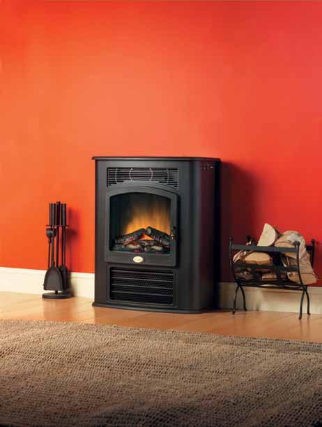 BEAB Approved. Model LYM28E Lymington the MIR40 Hydronic Stove features Stove design with Optiflame log effect.