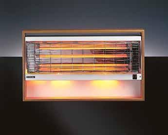 Other features Choice of three models. Wall mounted. Warming fireglow illumination even when heating elements are switched off. Three heat settings available on all models.