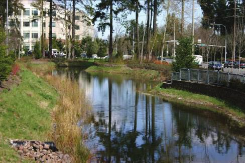 OS-9 Develop regional stormwater facilities in Overlake Village. These facilities will treat stormwater from a larger portion of the Overlake Neighborhood.