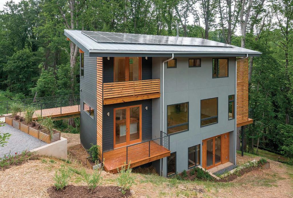 3 ReAdeRs ChoiCe third PlACe Net-Zero Spec House This Asheville, North carolina, house was crafted with careful attention to detail.