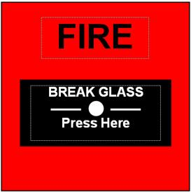 4.2.1 Fire Alarm Conditions - If the control panel initiates an alarm condition, the FIRE LED indicator lights and, if fitted, the relevant ZONE FIRE LED indicator lights and the internal buzzer