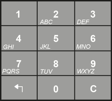 May also be used during programming to enter letters of the alphabet for text message entry. This works in a similar fashion to a mobile telephone keypad. EXIT KEY BACK SPACE/ DELETE KEY 3.