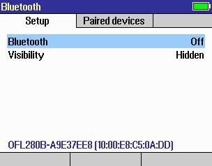 Pairing FlexTester to Another Bluetooth Device To pair the FlexTester to another Bluetooth device and send files: 1. From the Main menu, display the Settings screen A using keys. 2.