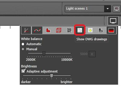 Form display options make sure that DWG display is activated Now the second step is