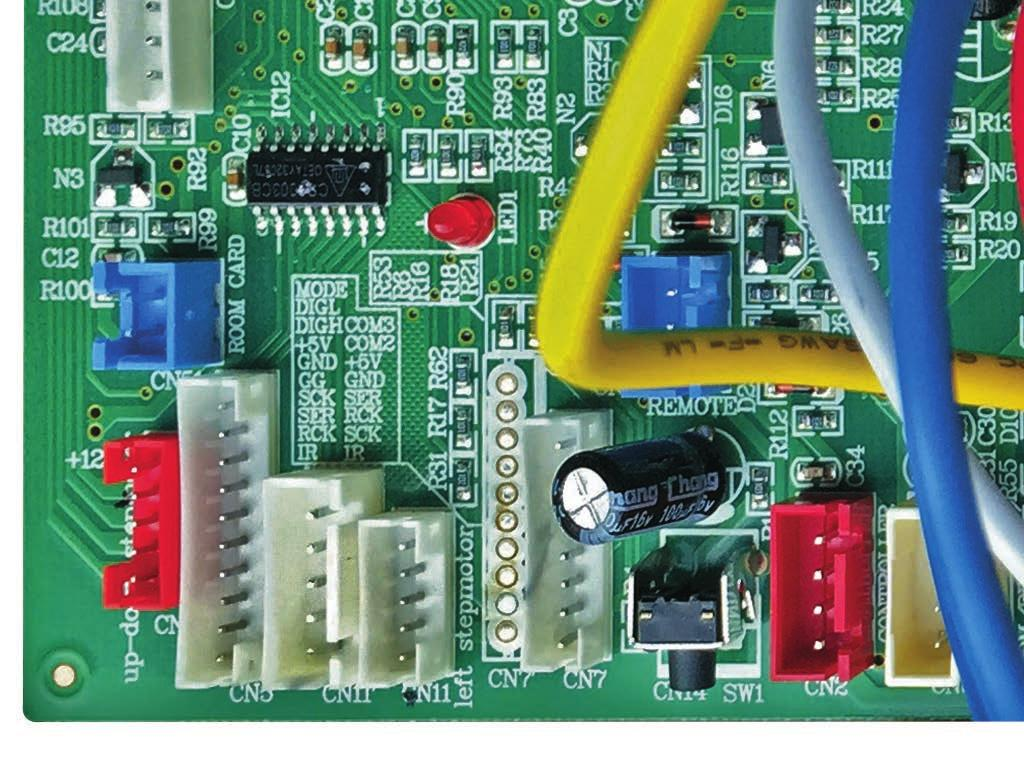 Varistor 6 CN7 - Connector for display 5 FUSE - Fuse.