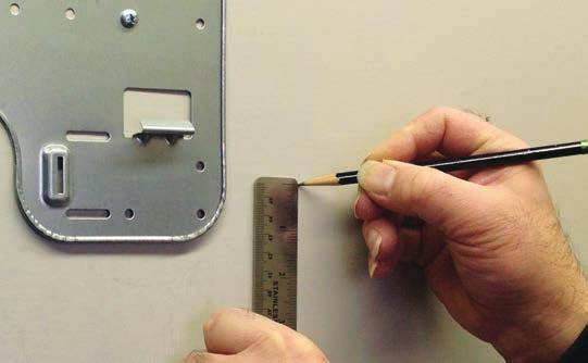 will be ¼ lower than the inside hole, giving the hole the proper angle for condensate