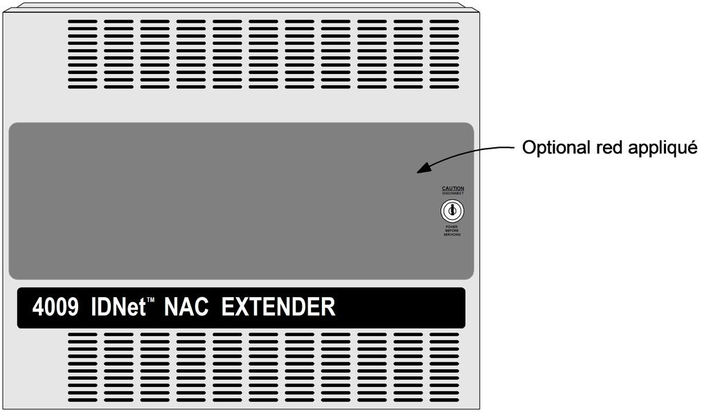 4009 IDNet NAC Extender Mounting and Module Placement Information Additional four point module shown SKU A009-9807.