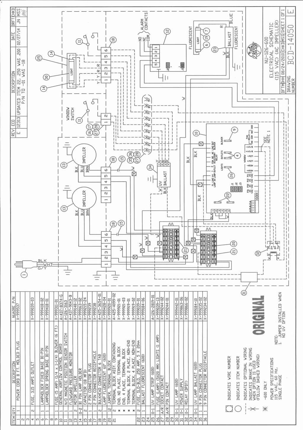 Vertical Airflow Cabinet Models Nu E Operation Maintenance S700 Electric Heater Wire Diagram Om0186