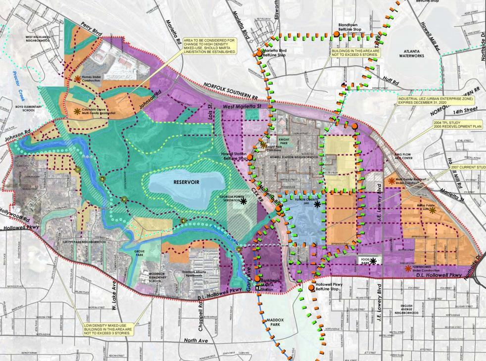 Subarea 9: Previous Plan Land Use The previous Subarea 9 Master Plan land use goals emphasized creating compact, livable activity centers while preserving the character of existing single family