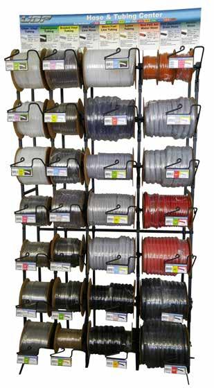 SPOOL AND BOX DISPENSER RACKS 3 Ft BOX DISPENSER RACK Includes 27 different hose and tubing constructions in the most popular sizes