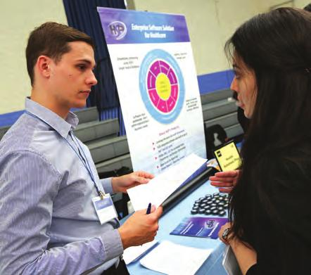 work. Pictured: At the annual All Majors Job and Internship Fair, students meet with prospective employers. FOR MORE NYIT NEWS, VISIT NYIT.