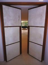 Roto. Doors coated with