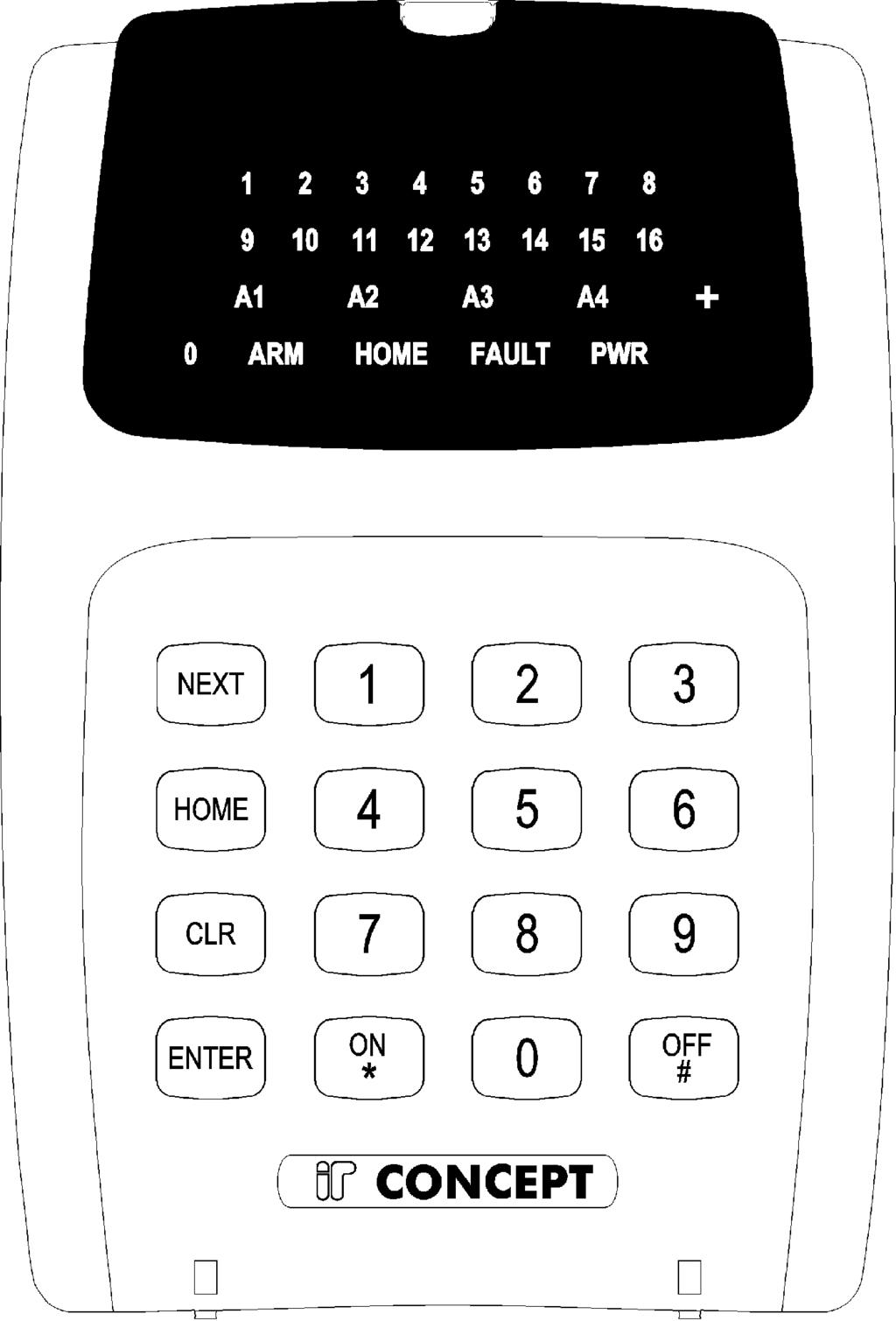 6 Version 1.03 January-2002 2.1 SPECIAL KEY FUNCTIONS 2. The LED Terminal NEXT HOME -Select a Master User operation. (Enter PIN code, press <NEXT> then the Mode number.