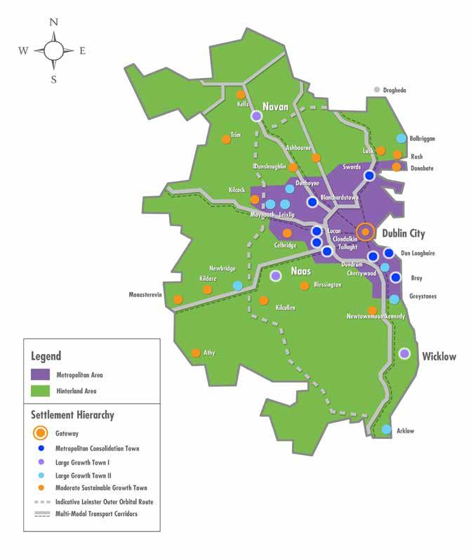 2.4 Planning Policy Zones Regional Context The Regional Planning Guidelines for the Greater Dublin Area 200-2022 (RPGs) identify two planning policy zones in the Greater Dublin Area (GDA) (Refer to