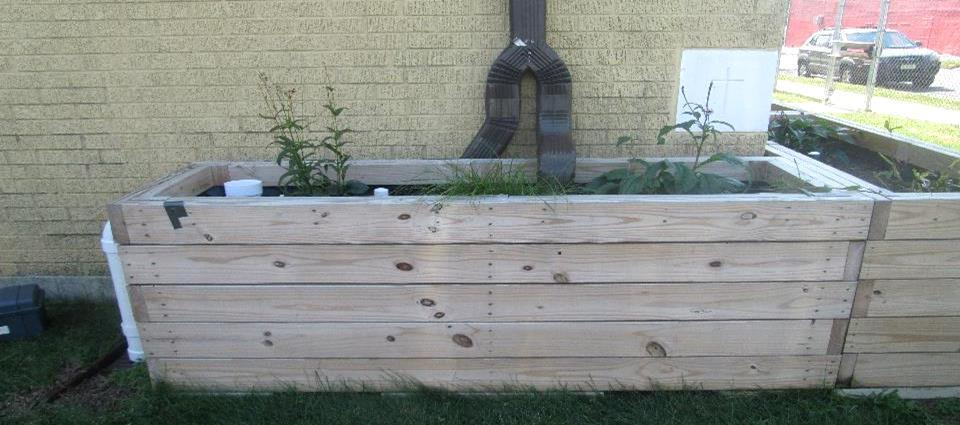 Downspout Planter Boxes at Acelero Learning Center