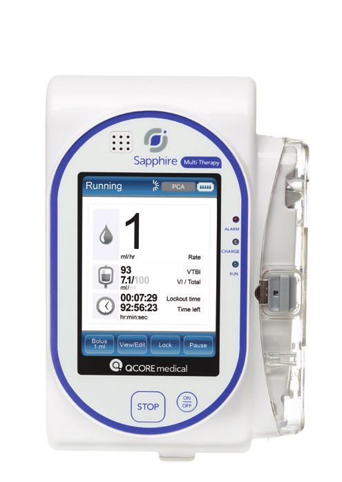 Sapphire TM Ambulatory Infusion System As infusion needs evolve, so does Sapphire.