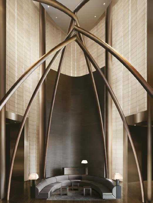Armani Hotel Dubai The Armani Hotel Dubai is the result of the collaboration between Wilson Associates and Giorgio Armani and has the minimalist, sober and