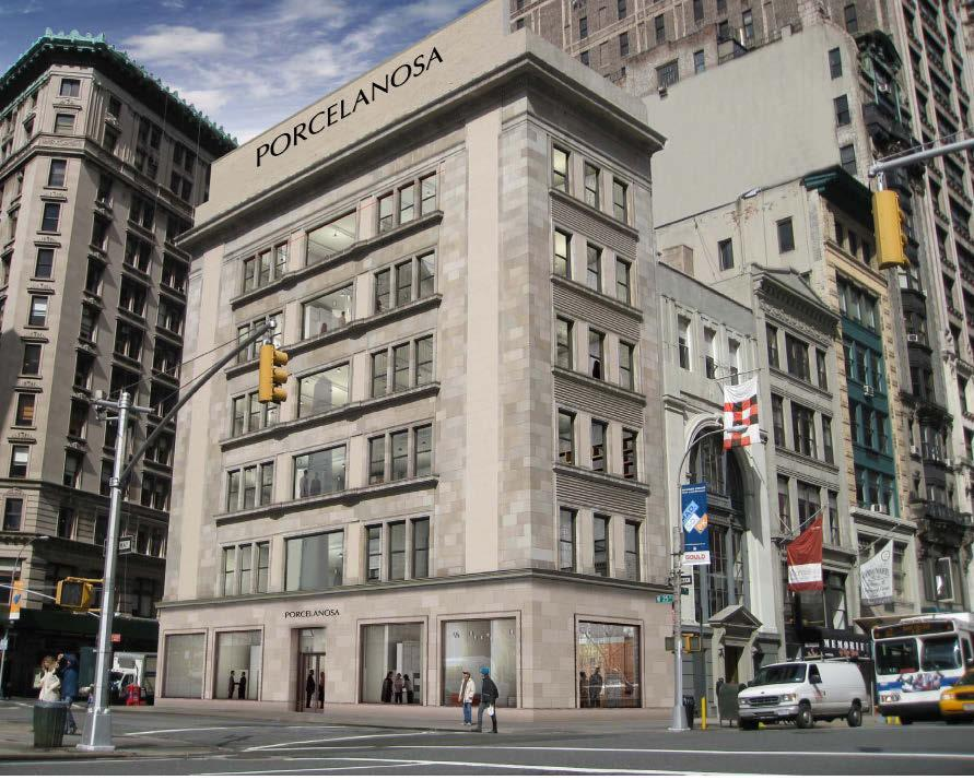 > NEW OFFICES Porcelanosa Group takes on the Big Apple With the aim of creating a global brand for which conquering the American market is essential as it is a world benchmark Porcelanosa Group