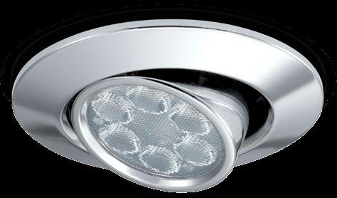 CLASSIFICATION Class 1 IP20 240V All the features of FGLED6 with unique tilt & rotate LED 10 year Extended warranty* Dimmable As standard 3000K 4000K Warm white
