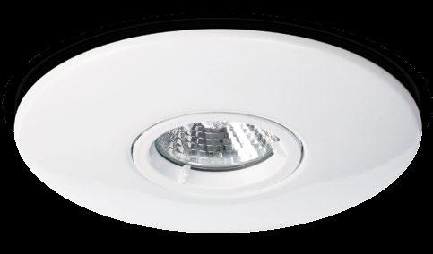 CLASSIFICATION Class 1 IP20 240V LAMP (NOT SUPPLIED) QPAR16 50W GU10 Large Bezel Mains Fire-rated large bezel downlight 2 year Product guarantee Fire-rated downlight with a wide bezel FINISH Brushed