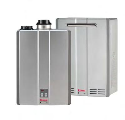 COMMERCIAL WATER HEATING SOLUTIONS SUGGESTED LIST PRICE Rinnai Commercial Condensing Tankless Water Heaters C199 Benefits: Commercial Energy Star qualified - 96% Thermal Efficiency Endless supply of