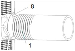 Installation Note: The window kit is only designed for use with casement windows. Screw the exhaust hose (1) onto the exhaust hose adapter, turning the hose anti-clockwise.
