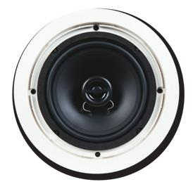 "Brackets Included Dimensions (H x W x D): 6"" x 36"" x 41/8"" Shipping C600 One pair of ceiling speakers with 6½"" polypropylene woofers, ½"""